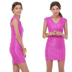 Lilly Pulitzer Selassie Purple Metallic Lace Dress